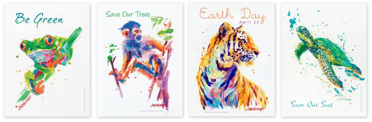 Environmental poster designs, collaboration with Lisa Palombo and Susan Newman Lerer