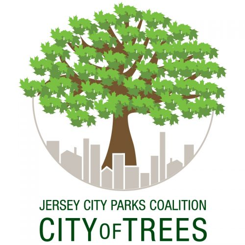 City of Trees logo for the Jersey City Parks Coalition - Design by Susan Newman