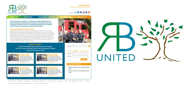 RB United - logo design and website design - Award Winner Graphic Design USA