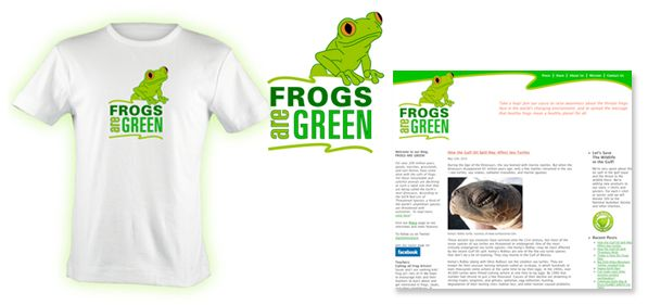 Frogs Are Green branding