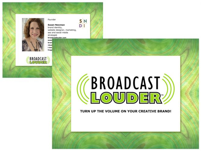 Powerpoint design for Broadcast Louder webinar series hosted by Susan Newman
