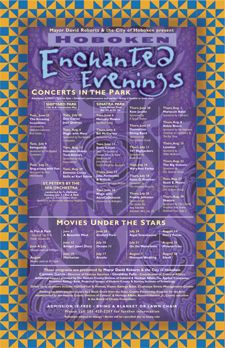 Enchanted Evenings poster design for The City of Hoboken
