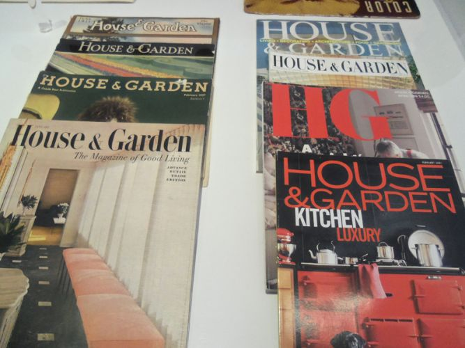 House and Garden magazine cover branding