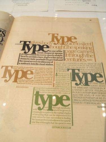 type at AIGA century