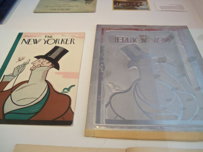 New Yorker Magazine cover and printing plate