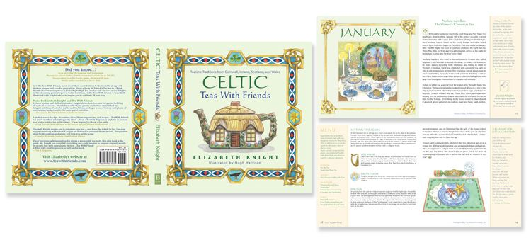 Celtic Teas with Friends - award winning book cover and interior design